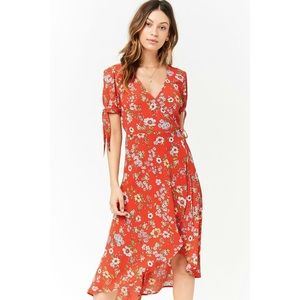 ✨ Floral Surplice Midi Dress✨